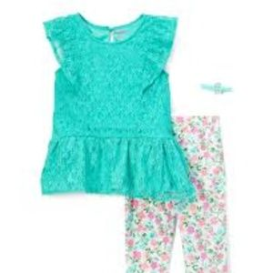 NWT Nannette Kids Lace Sleeveless Tunic Set 2T